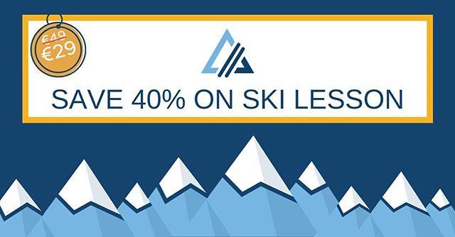 Save 40% on an off-peak ski lesson worth €49 in our 24hr Black Friday deal! Use code BLACKFRIDAY18 at checkout. T&Cs apply - link in bio. Valid until midnight on 23/11/2018 only. ⠀ ⠀ ⠀ ⠀ ⠀ #blackFriday #Friday #weekend #deal #powder #snow #ski #snowsports #winter #snow #alpine #skiing #fitfam #irishfitfam #legday #instafit #train #exercise #mobility #fitnessaddict #fitforthelongrun #freestyle #freeski #skitouring #dublinfitfam