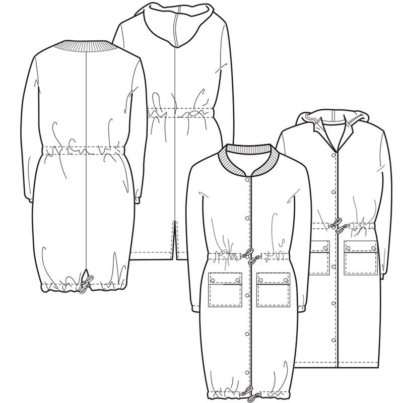 the utility coat line drawing