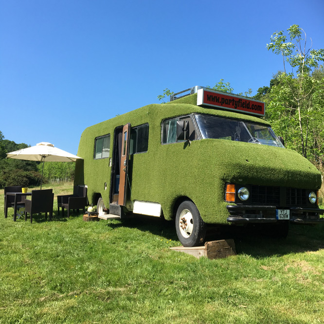 Monty The Motorhome - Our 6-birth, retro motor home experience sits within a beautiful field...