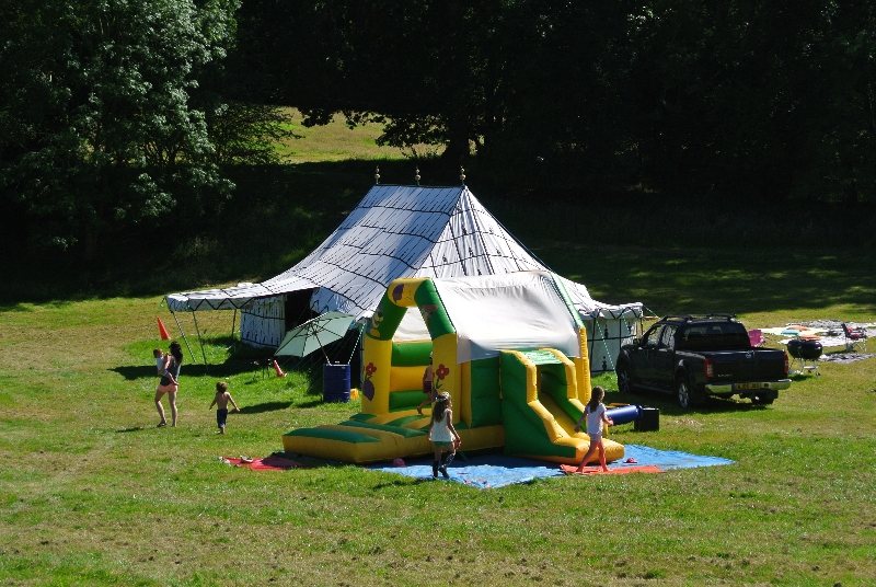 Partyfield Dorset childrens party bouncy castle marquee.jpg