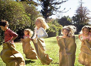 Partyfield Dorset childrens party sack race .jpg