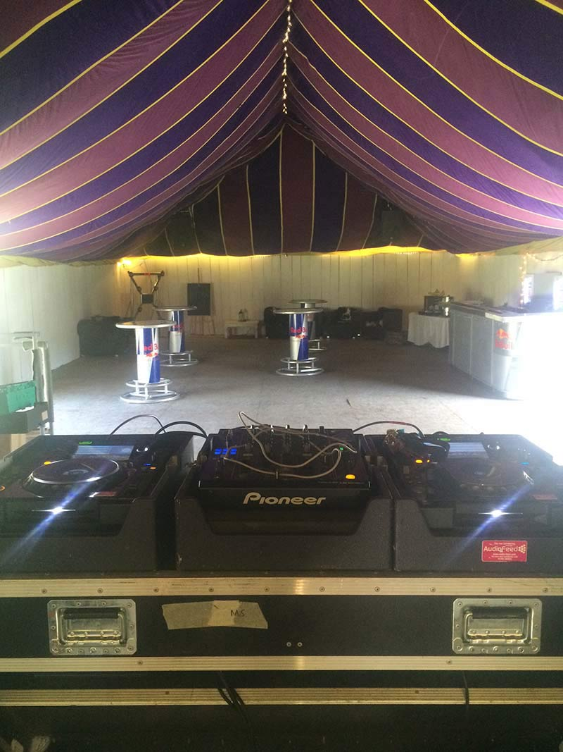 Partyfield Dorset party in a field marquee sound system.jpg