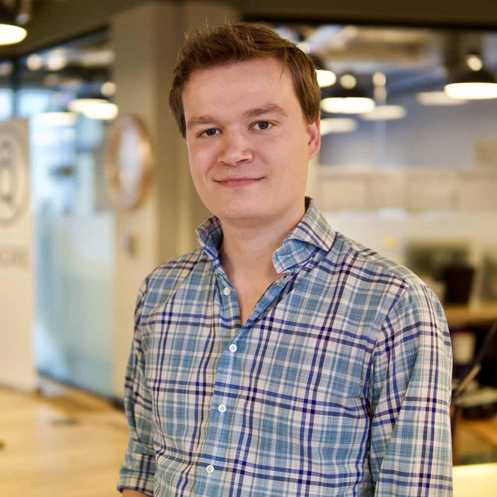 Nick Williamson, CEO    Nick has a career spanning everything from Fintech for Hedge Funds, to Playing Professional Poker. He led the Product & Operations of Ring Games for PokerStars, the largest global real-money online poker product. Nick has since become a blockchain champion, founding Credits and contributing to numerous open-source projects. Credits built and launched the first government service in the world running on blockchain, was the first blockchain technology provider in the UK Government's G-Cloud Marketplace, and was named Blockchain Startup of the Year in the 2016 Europas .