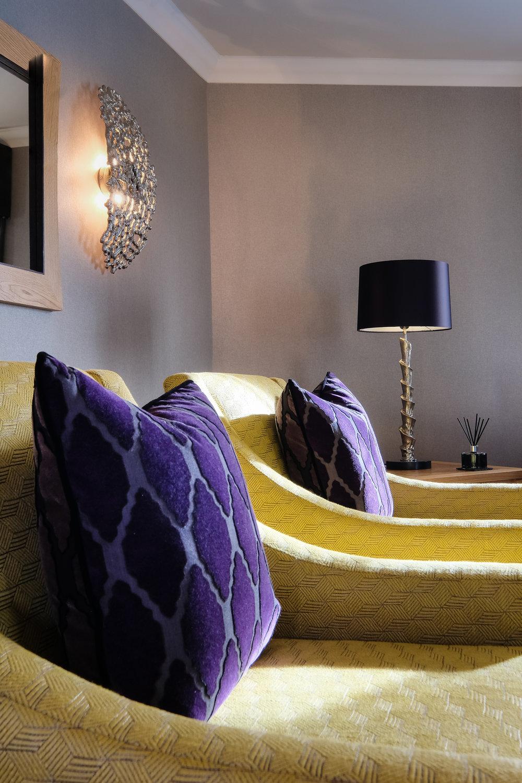 Interior design, sofa and cushion arrangement | Aberdeenshire