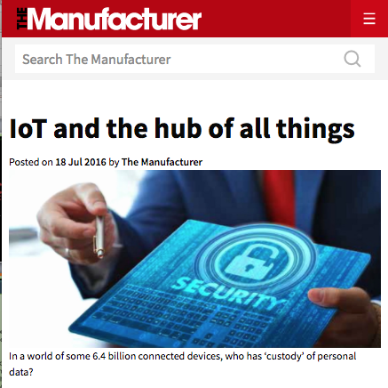IoT and the hub of all things - A crisis is developing in the IOT-world of customer data as governments, companies and individuals wrestle over who should own it. Irene CL Ng says a new methodology is emerging that will resolve the issue to everyone's benefit.