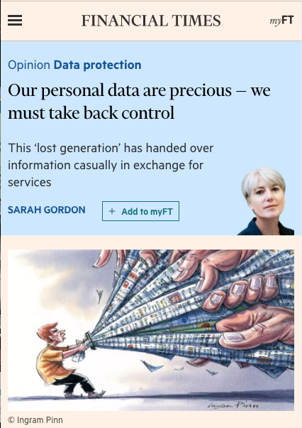 Our personal data are precious — we must take back control - This 'lost generation' has handed over information casually in exchange for services