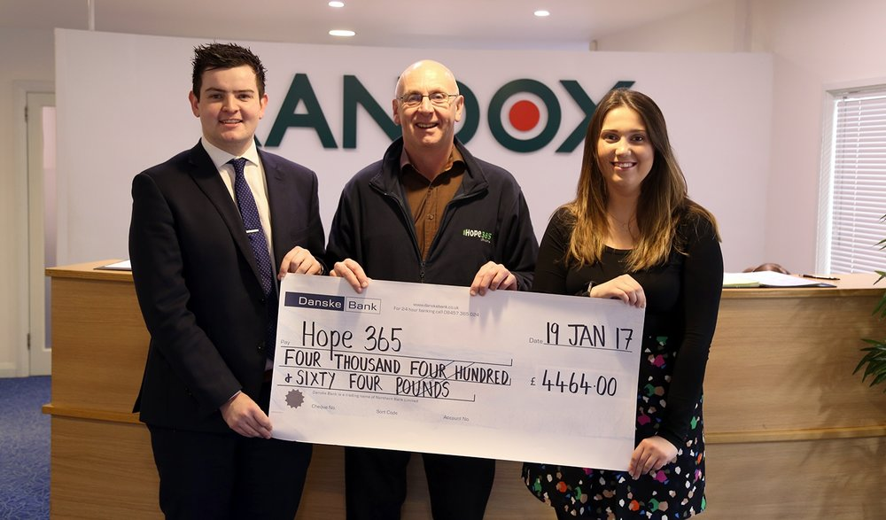 Randox  for choosing us to benefit from the proceeds of their Annual Charity Raffle