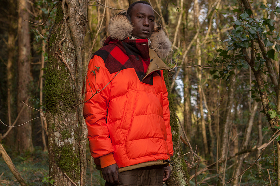 Griffin Down Smock - Fully reversible, detachable fur trim and limited edition bonded graphics. The Down Smock is filled with luxury french down and boasts water-resistant ripstop nylon to keep you dry and warm in the harshest of conditions.