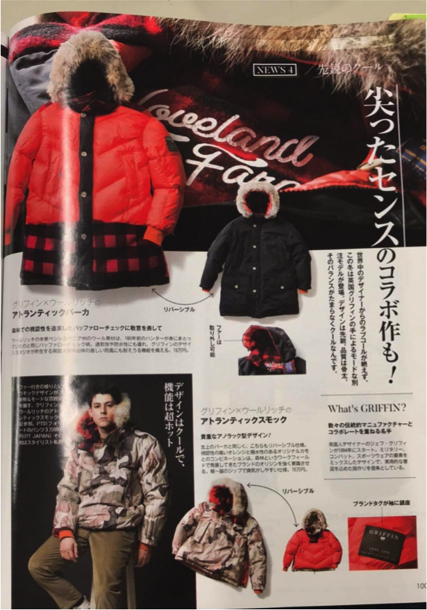 GRIFFIN X WOOLRICH |   BEGIN MONOGRAM JAPAN