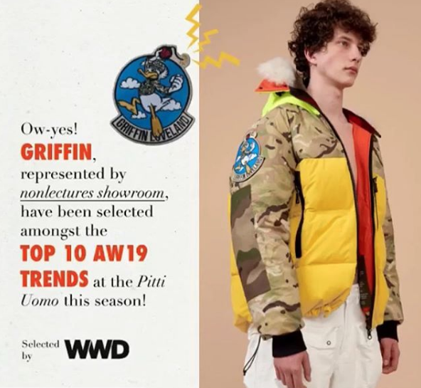 GRIFFIN AW19 | selected by WWD (Women's wear daily)