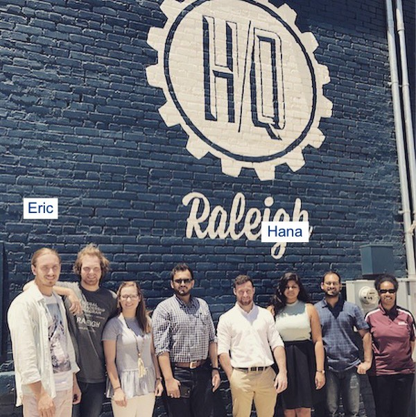 The Leadership exChange crew, who worked with HQ Raleigh companies throughout July