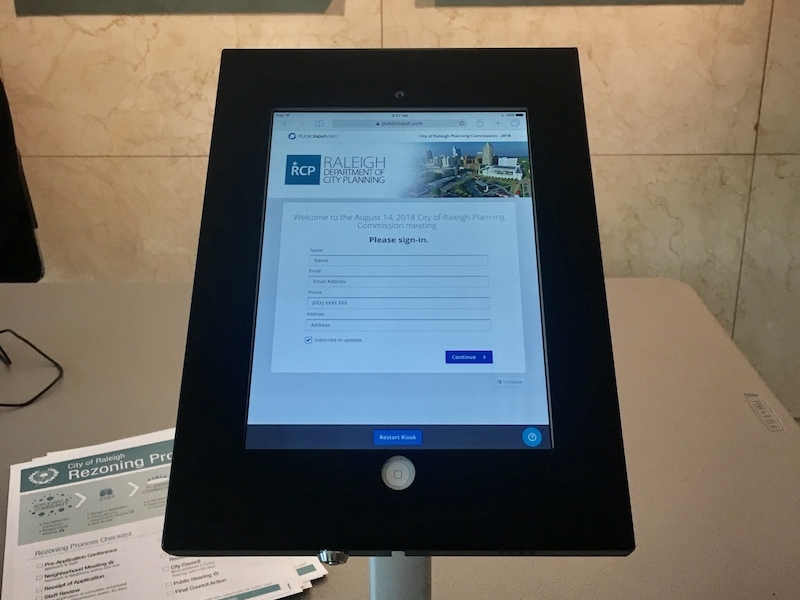 Simplified sign-in - Meeting sign-in sheets are barely legible and require time-consuming data entry. Leverage kiosks and tablets to modernize this for clients and increase engagement.