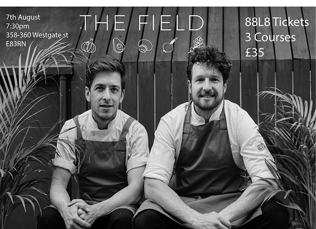 Come join us and these two handsome chefs @thefieldrestaurant next Tuesday for or next 88L8! 8 staff who recently graduated from our Personal Development Course are doing their first shift back in work after suffering with mental health issues. Help us support them and grab a ticket - link in bio.  #mentalhealth #charityevent #popup #eastlondon #plantbasedfood #foodie #dogood