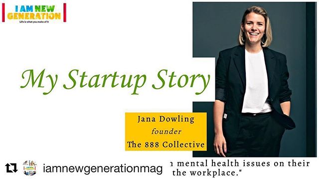 Very excited to be speaking at @iamnewgenerationmag event in November - link in their bio ... ・・・ #mystartupstoryuk Jana Dowling @the888collective - inspired by own personal experience to use her #startup to empower people and organisations to take control of their mental fitness. Hear more of her business story on Nov 15th - Link in bio - socialcare #socialenterprise #socialentrepreneurship #femaleentrepreneur #femalefounders #leadership #startups #youngentrepreneur #startupstories #startuplife #mentalhealth #mentalhealthawareness #fitness #health