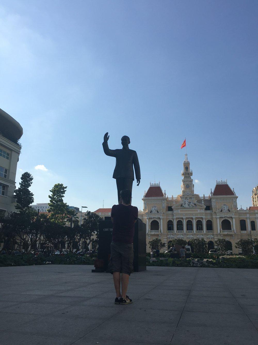 The man himself.  Ho Chi Minh City, Vietnam