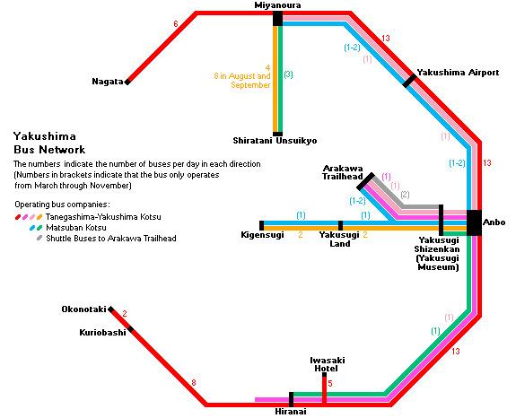 Yakushima Bus Route