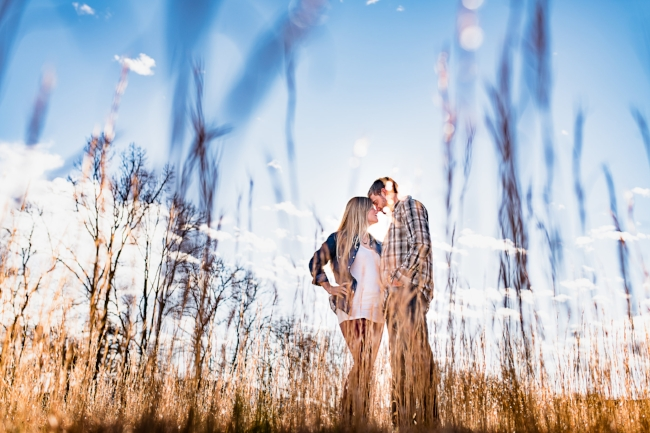 from Morgan & Cole's engagement session at McGuire's Millrace Farm in Murphy, NC