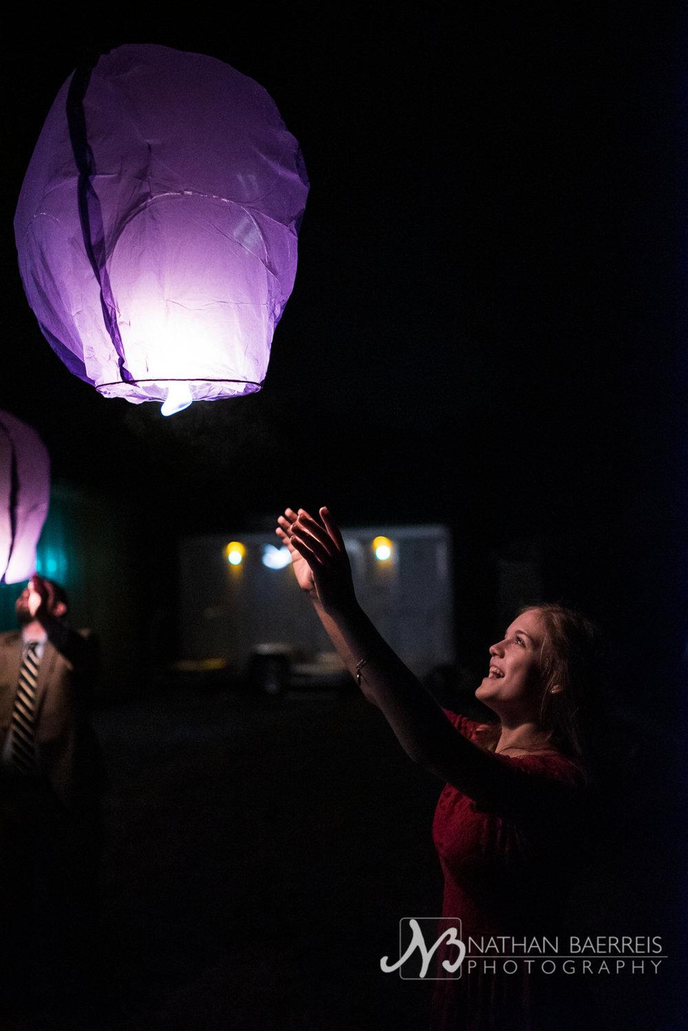 up, up, and etc - floaty lanterns!