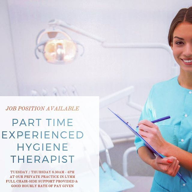 A new job opportunity has arisen for an experienced hygiene therapist to work either a Tuesday or a Thursday at our private practice in Lymm working 8.30am - 4pm.  The post that is currently available is for a therapist with the following attributes and skills: - Performing direct access exams under scope of practice - Maintain and plant periodontal patients inclusive of implants - Direct composite and GIC restorations for both adult and paediatric patients - Removal of composite attachments and digital impressions for Invisalign patients  We are looking for a highly motivated & experienced therapist to join our team and work alongside Andrea and Jane.  In return, you will have full chair side support provided and good hourly rates of pay reflective on levels of expertise.  If anyone thinks they or someone they know would be an eligible candidate, please submit your CV to our practice manager, Maria at enquiries@creatingbeautifulsmiles.co.uk  #hygienetherapist #dentalhygienist #dentalhygiene #jobvacancy #jobalert #cheshire #dentist #privatedentist #hygienetherapy
