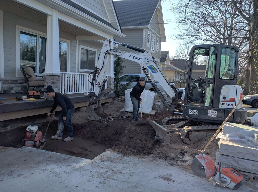 Excavation & Grading - We perform all of our own site work, and often dig for foundations, pools, & additions.