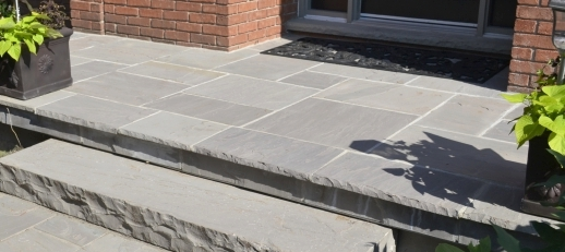 Natural Stone Work - From Porch Overlays to Natural Slab Steps.