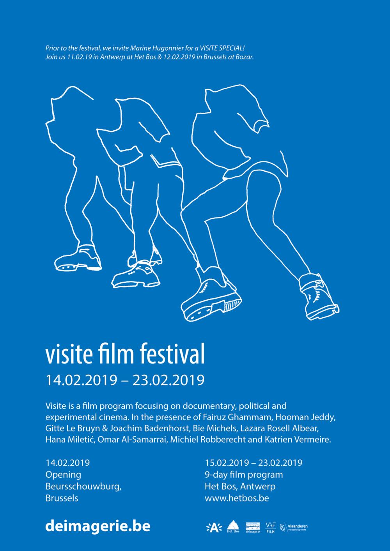 14 - 23.02.2019 - Visite Film Festival #6!Van 14 t.e.m. 23 februari 2019 nodigt De Imagerie wederom filmmakers uit die zich focussen op experimentele, politieke en documentaire cinema. Programma binnenkort online!