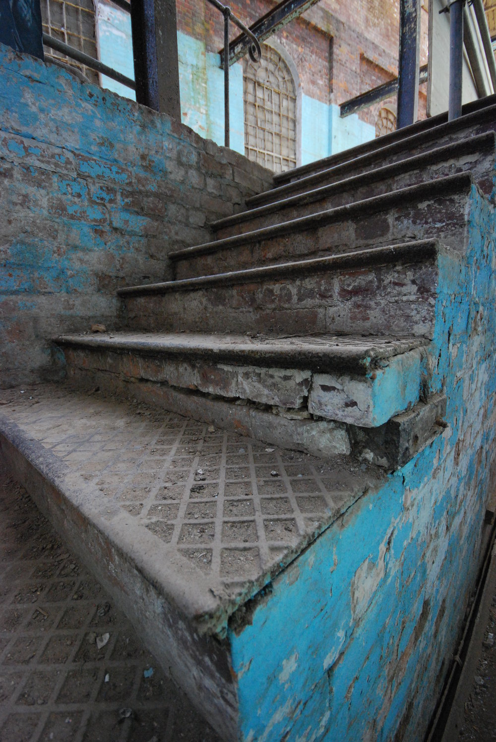 Albion Archaeology project. Steps in the Wolverton Royal Train Sheds, May 2008