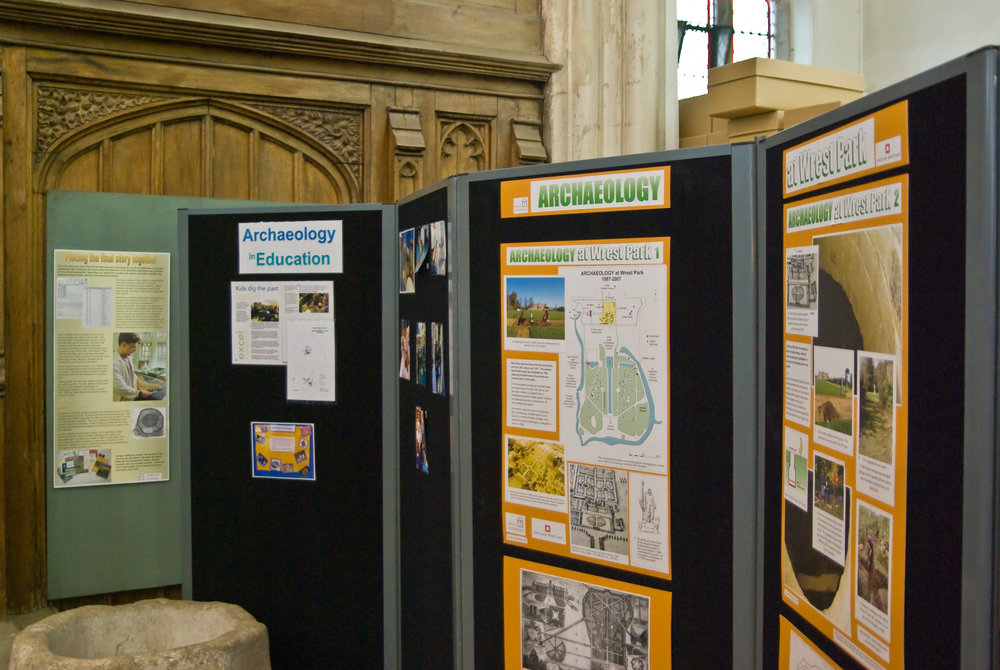 The public exhibition area in St Mary's Church is open weekdays (excluding bank holidays) from 10am to midday and 2pm to 4pm.