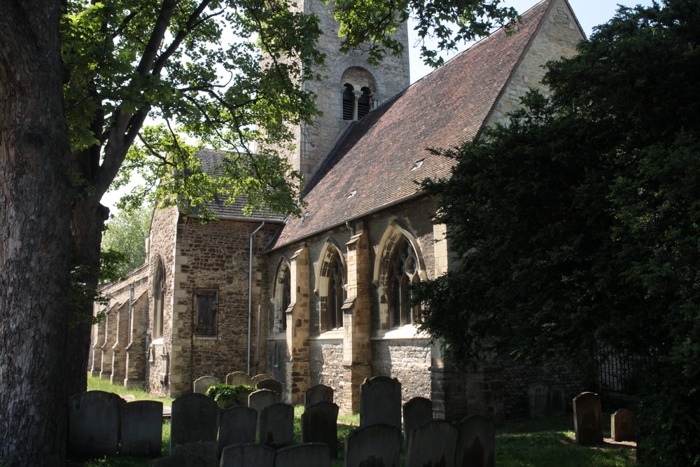 St. Mary's Church, Bedford - view from the west