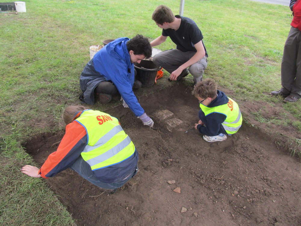 Young archaeologists at Willington
