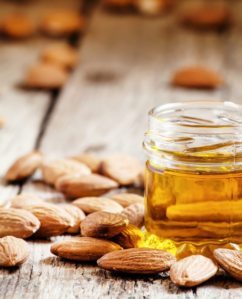 Almond Oil - Soothing, emollient Sweet Almond oil is high in Vitamin D and very emollient, it softens and smooths the skin.