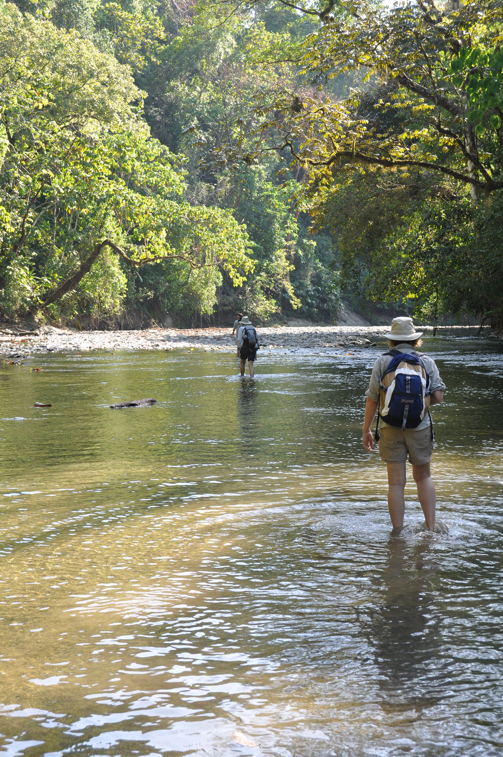 Wading through a river Travel With Ann Experiential Adventures