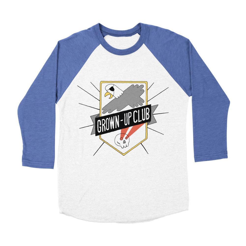 Grown-Up Club Baseball Shirt