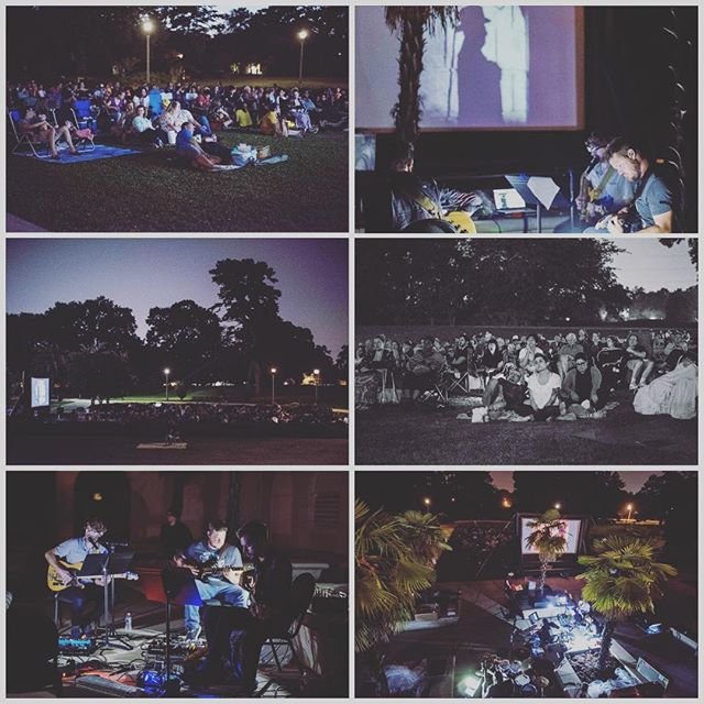 Thanks again @brgallery for the opportunity to make this night come true.  Playing for Movies & Music On The Lawn was an incredible experience! Check out our 25 track score for Phantom Of The Opera (link in bio)  #filmscores #batonrougemusic #batonrougemusicscene #phantomoftheopera #composers #audioproduction #audioengineering #soundproduction #triphop #jazz #originalmusic #moviesoundtracks #silentfilms #neonmountain