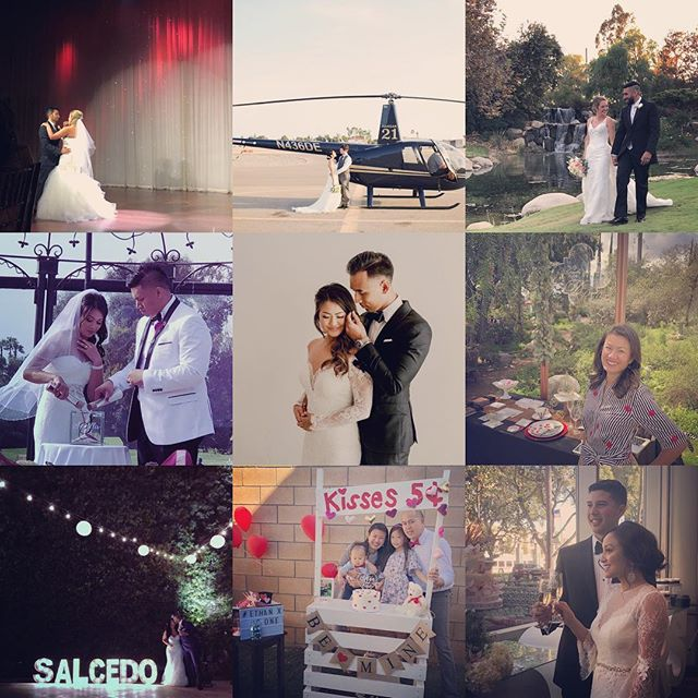 Some of my favorite weddings this year!  Thanks to my amazing clients for letting me be a part of your journey. It was such an honor and a pleasure to get to know each of you and make your weddings beautiful!  Cheers to a wonderful new year!  #bestnineoninstagram #bestnine #2018bestnine #dorothyroseevents . . . . #losangelesweddingplanner #eventplanner #orangecountyweddings #losangelesweddings #losangeleseventplanner