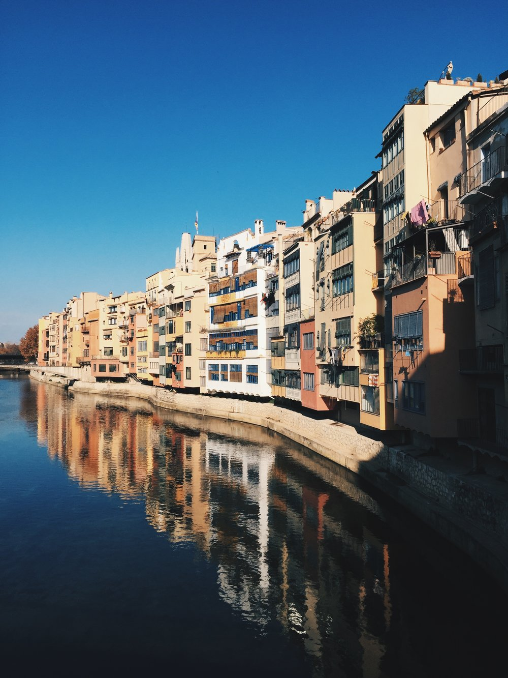 The postcard view of Girona