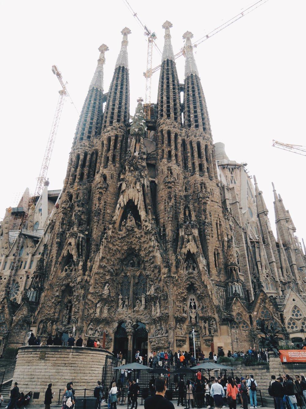 Catalan architect Antoni Gaudí's masterpiece — La Sagrada Família, a UNESCO World Heritage Site