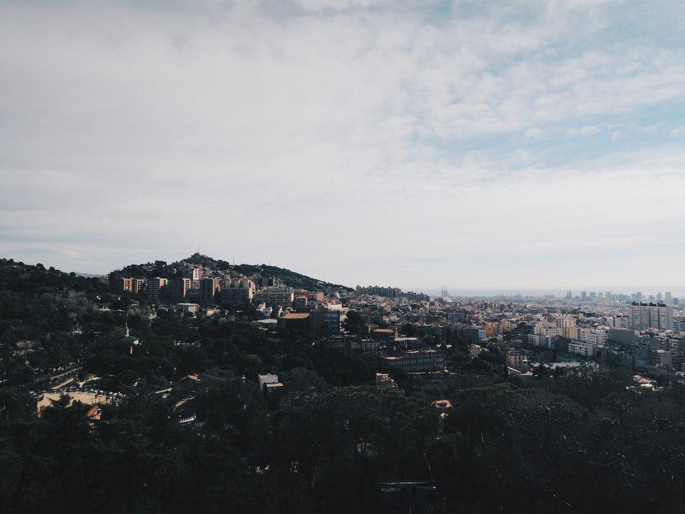 City views from Parc Güell