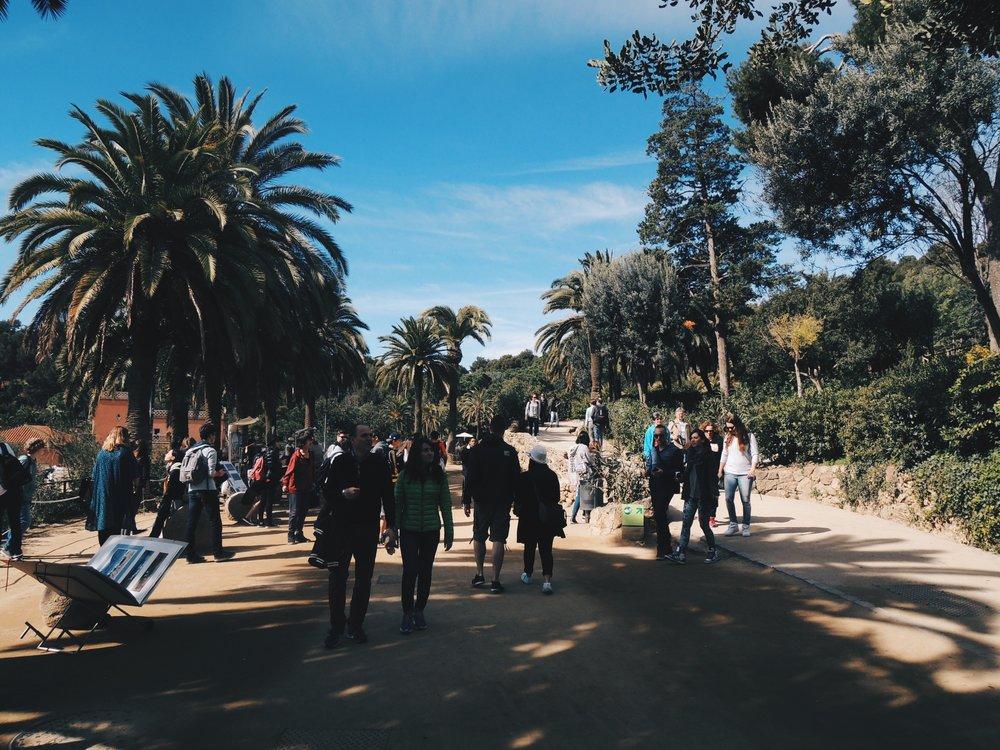 Parc Güell outside the Gaudí enclosure
