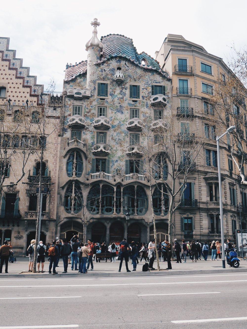Another of Gaudí's works — Casa Batllo