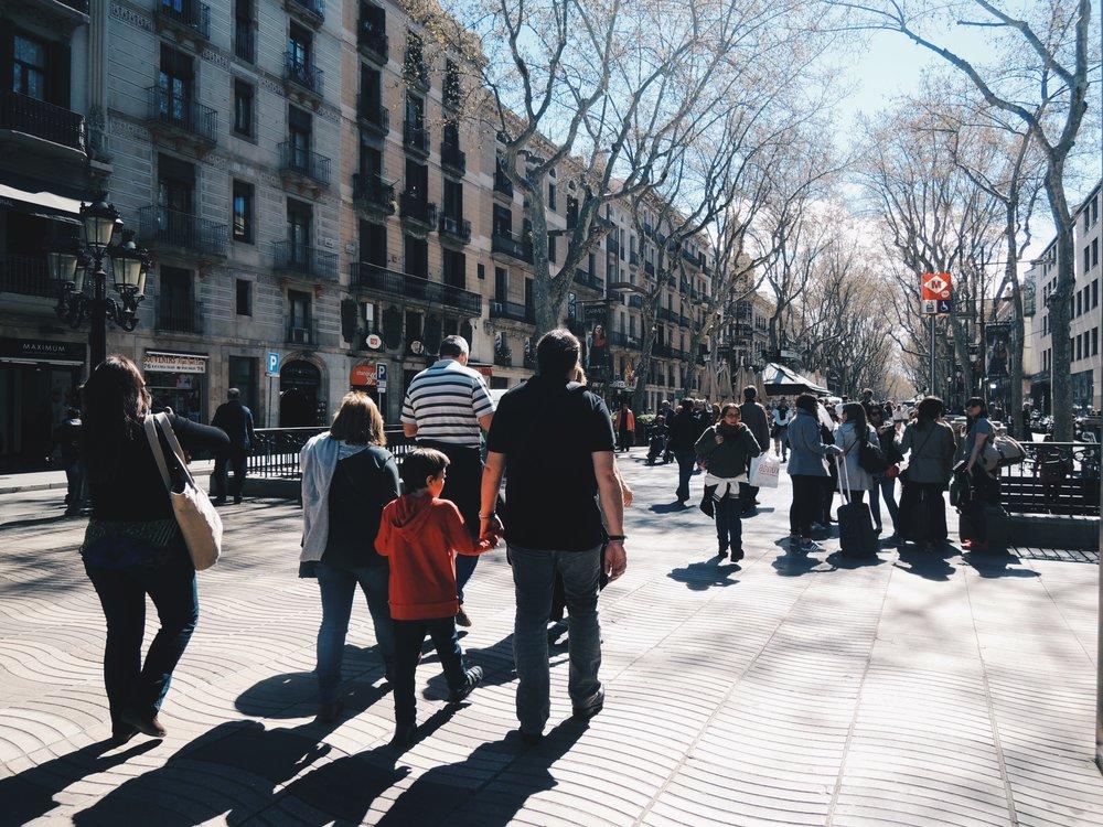 La Rambla— Barcelona's busiest boulevard