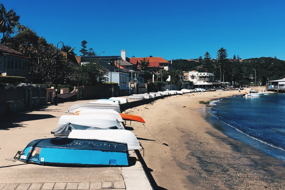 Picture perfect views of small fisherman boats of Watsons Bay