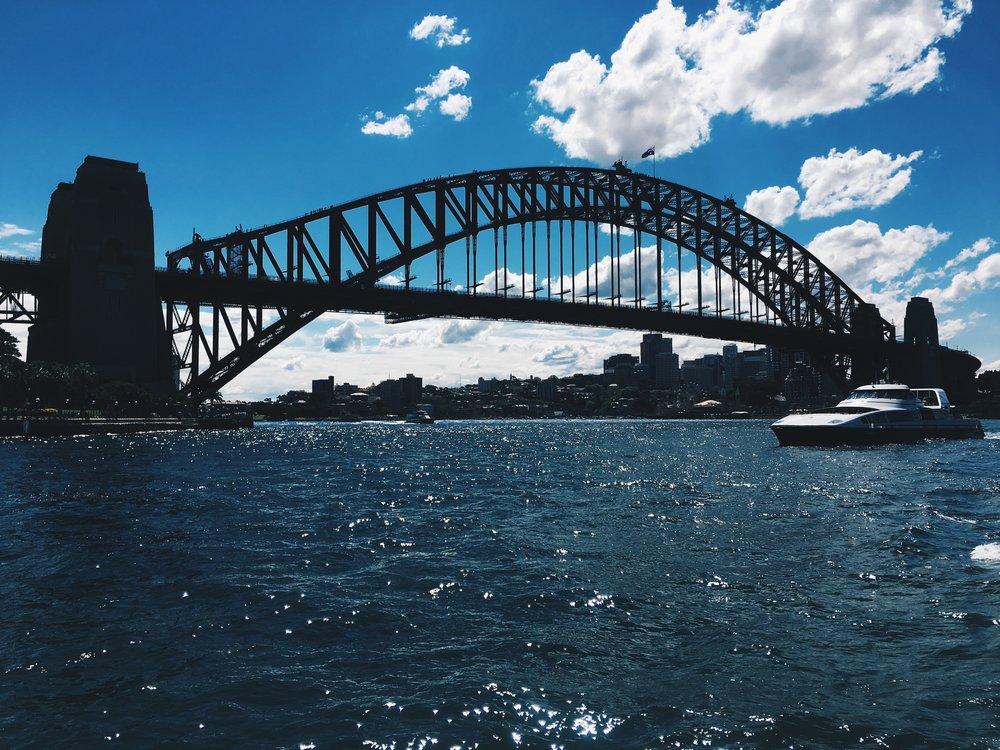 The iconic Sydney Harbour Bridge