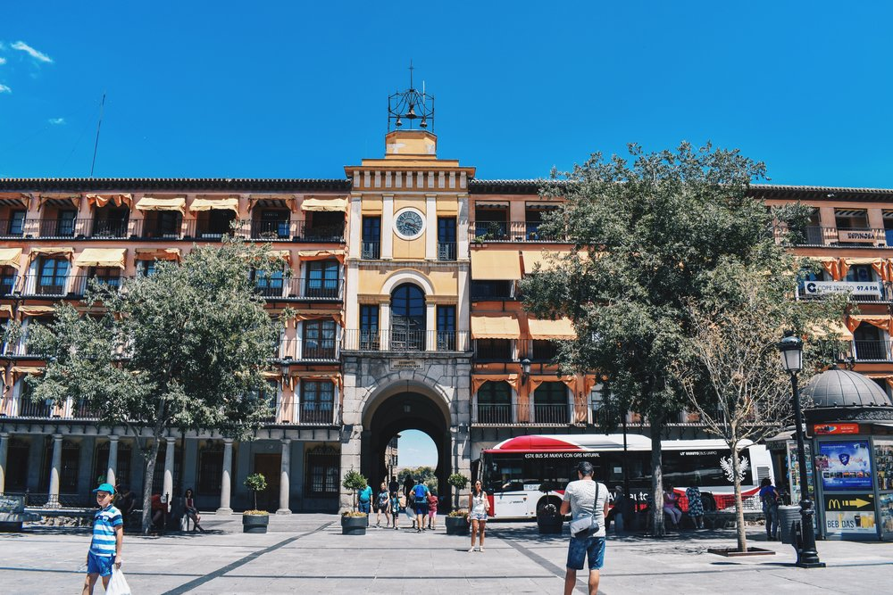 The square we were meant to end up at in Plaza de San Agustin