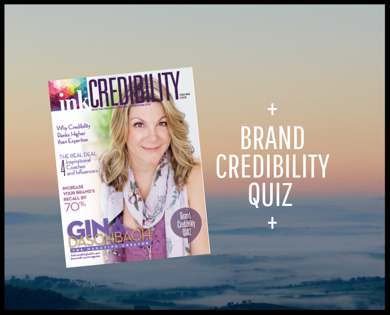 Take the Credibility Checkup. - Learn how your brand emanates credibility. Get instant access to our Credibility Checkup, an easy assessment, created for inkCREDIBILITY Magazine by LNK Creative.