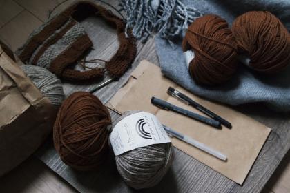 Yarn and knitting tools and supplies