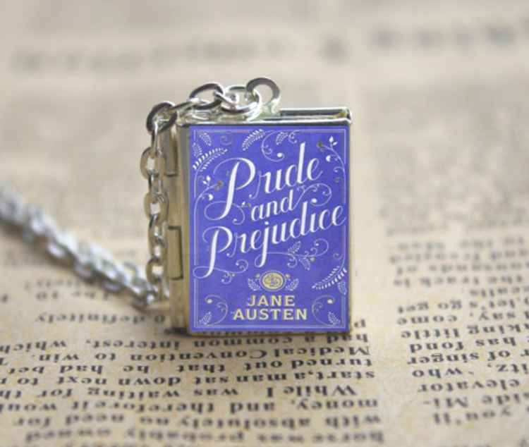 4def5506aa7d Pride and Prejudice Book Necklace