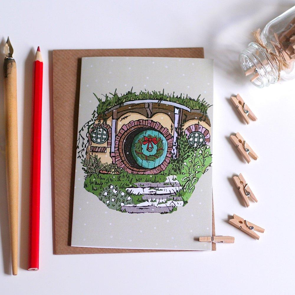 hobbit bilbo baggins christmas card