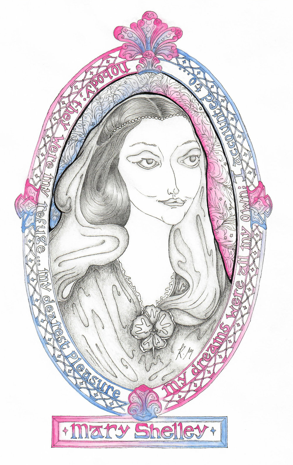 Mary Shelley - Mary Shelley available as a print, notebook or on a special soy wax hand poured candle.