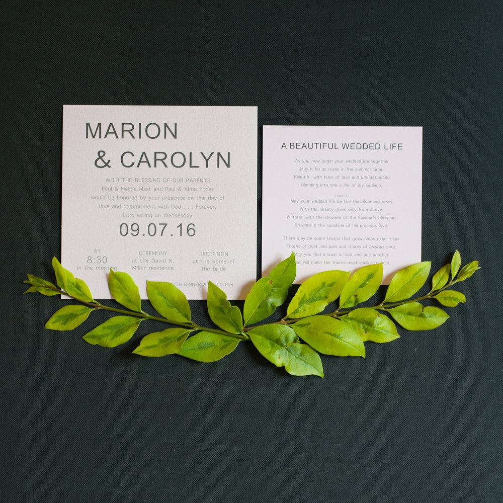 Marion & Carolyn Wedding